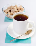 Teacup composition and sugar Royalty Free Stock Image