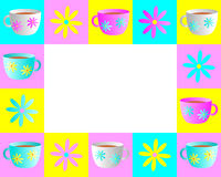 Teacup Frame Royalty Free Stock Images