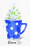 Teacup green tea Stock Photography