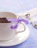 The teacup and the knot composition Stock Image