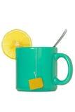 Teacup with a lemon slice Stock Photography