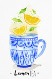 Teacup lemon tea Royalty Free Stock Photos