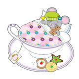 Teacup Mouse Royalty Free Stock Images