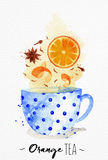 Teacup orange tea Stock Photos