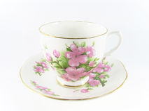 Teacup with Pink Flowers Royalty Free Stock Photo