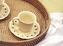 Teacup and saucer Stock Photography