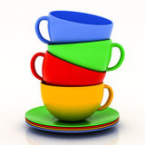Teacup with saucer Stock Photos