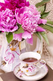 teacup with spring pi-mesons royalty free stock photography