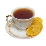 Teacup with tea and lemon Stock Photo
