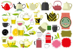 Teacup and teapot, kettle. Tea, teacup and teapot, kettle,  kitchenware items Royalty Free Stock Image