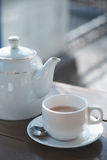 Teacup and teapot Royalty Free Stock Image