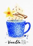 Teacup vanilla tea Royalty Free Stock Photos