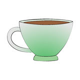 Teacup. Vector cartoon teacup on white background Royalty Free Stock Photo