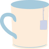 Teacup Vector. Teacup in simple vector with teabag hanging out Royalty Free Stock Photo