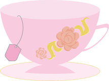 Teacup Vector. Teacup in simple vector with teabag hanging out Royalty Free Stock Images