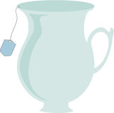 Teacup Vector. Teacup in simple vector with teabag hanging out Stock Photo