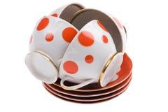 Teacup on white Stock Photo