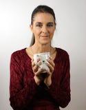 teacupkvinna Royaltyfri Bild