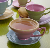 Teacups with coffee Stock Photos