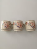 Teacups in a row Royalty Free Stock Photography
