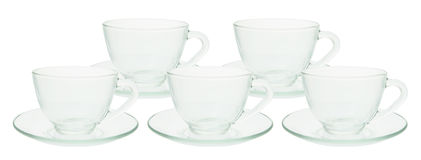Teacups and Saucers Stock Images