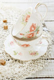 Teacups Style Shabby Chic Royalty Free Stock Photography