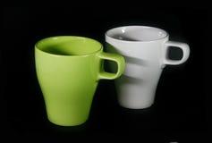 teacups två Arkivfoton