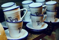 Teacups zakończenia, ostrość Zdjęcia Royalty Free