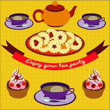 Teaffisch Vektor Illustrationer