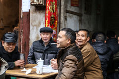 The teahouse in Bemu town in sichuan,china Stock Images