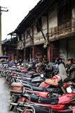 The teahouse in Bemu town in sichuan,china Royalty Free Stock Image