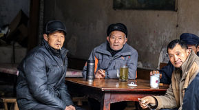 The teahouse in Bemu town in sichuan,china Royalty Free Stock Photography