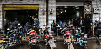 The teahouse in Bemu town in sichuan,china Royalty Free Stock Photos