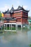 Teahouse de Huxinting, jardins de Yu, Shanghai Fotos de Stock Royalty Free