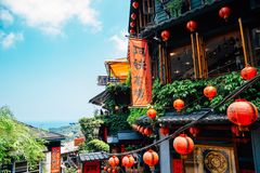 Teahouse at Jiufen old street in Jiufen, Taiwan stock image