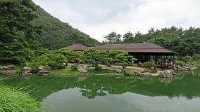 Teahouse in Ritsurin Koen Garden Takamatsu Japan Stock Images