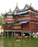 Teahouse in Yu Yuan garden Stock Images