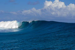 Teahupoo Wave in Tahiti Stock Images