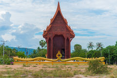 Teak AO Noi ξύλινος ναός Στοκ Εικόνες