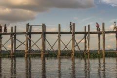 Teak bridge Royalty Free Stock Image