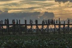 Teak bridge Royalty Free Stock Photography