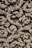 Teak Carve. Ancient teak carve on the temple door at Wat Don Sak, Uttaradit, Thailand Stock Photography