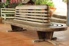 Teak chairs Stock Images