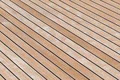 Teak deck. Background - Yacht teak planks deck Stock Photos