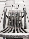 Teak deck chair Royalty Free Stock Photo