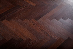 Teak flooring Stock Image