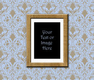 Teak frame antique wallpaper Royalty Free Stock Photo