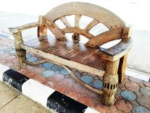 teak furniture is made by hand Stock Image