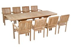 Teak garden furniture, Garden Furniture set. Teak garden furniture isolated in white background Stock Images