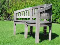 Teak garden seat Royalty Free Stock Images